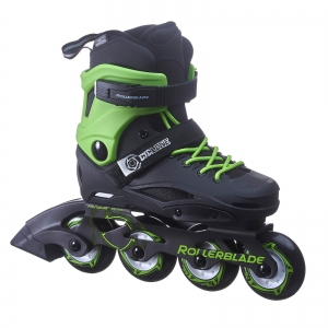 Роликовые коньки ROLLERBLADE CYCLONE black/acid green 2018 г.